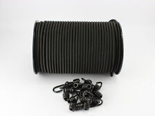 10mm Expanderseil schwarz 20m + 20 Spiralhaken Expanderseile Haken Seil Plane