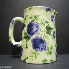 Heron Cross Pottery Ivy ROSE (BLUE) Chintz English 1/4 Pint Cream Jug