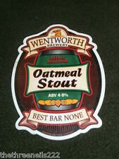 BEER PUMP CLIP - WENTWORTH OATMEAL STOUT