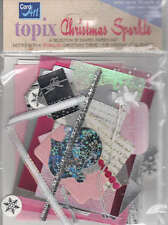 Topix Pack for Cardmaking, Pink Christmas Sparkle TOP08