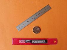 RULER STEEL RULE 150mm / 6inch DUAL SCALE (B7516 - Grde1) TOLEDO MADE IN JAPAN