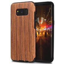 TENDLIN Samsung Galaxy S8 Plus Case Wood Veneer Flexible TPU Silicone Hybrid ...