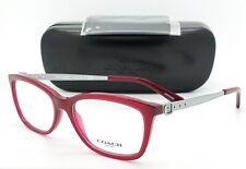 f06bdbdf334d NEW Coach Eye Glasses Frame Rx HC6114 5503 53mm Dark Red Silver AUTHENTIC  6114