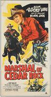 "Marshal of Cedar Rock 1952 Original Rolled Two Sheet 41""x 79.5"" Western Poster"