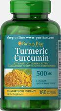Puritans Pride Turmeric Curcumin 500 mg x 180 Capsules Healthy Brain Function