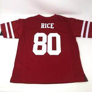 Nike Jerry Rice #80 San Francisco 49ers Throwback Jersey Red Boys 5/6 Medium