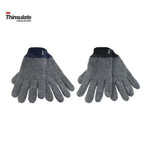 Mens Ladies Thermal Thinsulate Insulated Full Finger Gloves Knitted Wooly 3M