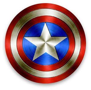 "captain america shield sticker decal 4""x4"""