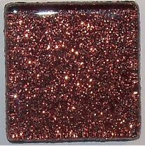 Cocoa Brown Glitter Glass Mosaic Tiles - 3/8 inch - 50 Tiles - Craft & Art
