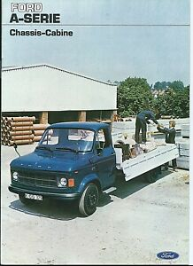 Ford A Series Chassis Cabine Pick Up Truck Van Brochure 1976