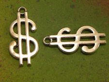 10 $ Money Symbol Dollars Symbols Charm Pendants Charms for Jewelry Making