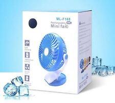 Ventilatore Portatile da Viaggio luce ricaricabile USB MINI OSCILLANTE Clip per Carrozzina Lettino Auto