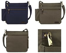 NEW!! TRAVELON COURIER COLLECTION ANTI-THEFT RFID SAFE N/S CROSSBODY TRAVEL BAG