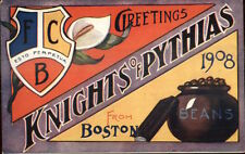 Boston MA Knights of Pythias 08 Celebration Bean Pot - Postcard #1 EXC COND