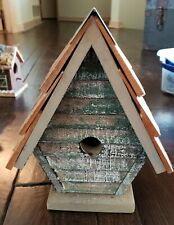 Home Garden Decor Wooden BIRD HOUSE BIRDHOUSE