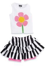 NWT MUD PIE Girls Petal Pusher Flower Skirt Set built-in Short Leggings 24M/2T