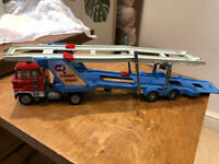 Corgi car transporter red and blue unboxed
