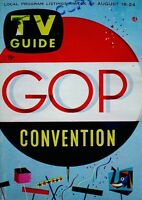 TV Guide 1956 GOP Convention Dwight Eisenhower VTG #177 Kit Carson Marx Brothers