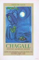Marc Chagall Mourlot,Ville De Nice Poster Offset Lithograph 10'' x 14'' 1966