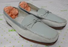 Cole Haan Resort women's size 7.5 B leather loafers pebbled light blue