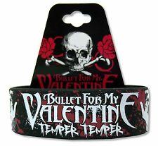 BULLET FOR MY VALENTINE - TEMPER TEMPER BLK SILICONE WRISTBAND NEW BFMV OFFICIAL