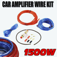 1500W Power Complete GAUGE Car Amp Audio Amplifier Cable Subwoofer Wiring Kit