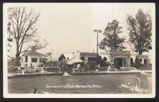 REAL PHOTO POSTCARD MARYSVILLE OH/OHIO CITY PUBLIC SWIMMING POOL 1930'S
