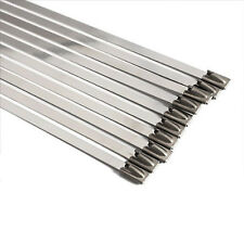20 STAINLESS STEEL CABLE TIES METAL STRIPPING HEAT EXHAUST WRAP TIE 4.6mmx360mm