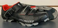NIB Specialized COMP MTB ATB Cycling Shoes, Black & Red, Size 42 (US 9) NEW!