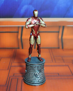 Marvel IRON MAN figure #2 White Bishop chess piece Eaglemoss collection