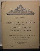 Catalogue Vente1962 Versailles Articolo Arte Mobili Xvii E H. 'S Luce Cavallo