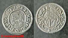 Royale Hongrie. Denier d'argent de Ferdinand Ier 1538 K B, en SUPERBE état