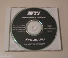 Werkstatthandbuch auf CD Subaru Impreza WRX STI - Modelljahre 2008 und 2009!