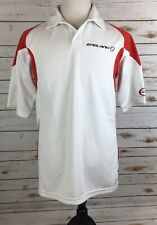 Kipsta Team Jersey England Mens Med White Short Sleeve Polyester Collared