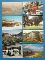 Set of 8 New Old Stock Sussex Postcards, Goring By Sea, Worthing, Newhaven 39N