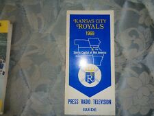 1969 KANSAS CITY ROYALS MEDIA GUIDE Press Book FIRST YEAR Program Yearbook AD