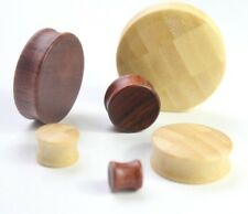 1pc 8mm-76mm Big Large Wood Double Flare Tunnel Ear Plug Stretcher Earring Gauge