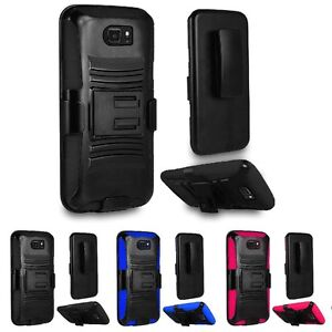 For Samsung Galaxy S7 Active Hybrid Armor Belt Clip Holster Stand Case Cover