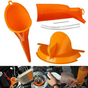 3x Motorcycle Drip-Free Oil Filter Funnel Tool For Harley Dyna Softail Touring