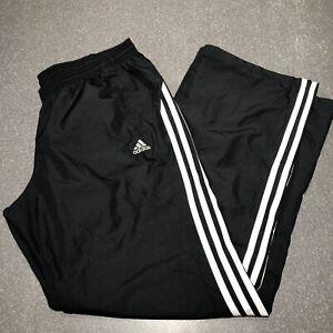 Adidas Women's Black White 3-Stripes Wind Pants Mesh Lined W48012 Large
