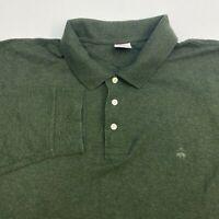 Brooks Brothers Polo Shirt Men's Size 2XL XXL Long Sleeve Green Original Fit