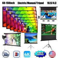 "16:9/ 4:3 Projection HD Home Theater 60-150"" Electric/ Manual Projector Screen"