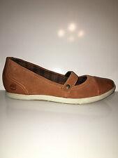 NEW Timberland Ballard Women Orange Suede Wedge Mary Jane Comfortable Shoe sz10W