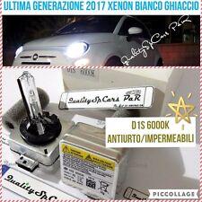 2 Lampadine XENON D1S FIAT 500 500c fari abarth HID 6000K RICAMBIO Luci Bianco
