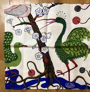"""Mod Abstract Peacock Pillow Cover~Heavy Linen 18"""""""