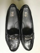a6e0f4c5ca4 SAS Tripad Comfort Women s Loafers Black Patent Leather Slip On Buckle Size  ...