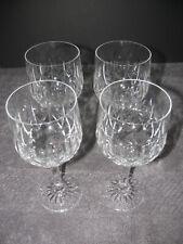 "Crystal Stemware Wine Glass Water Goblet 7"" Tall 4 Lot EUC"