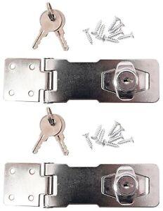 2 x Amtech T1895 100 mm Self Locking Hasp