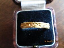 ANTIQUE-GEORGIAN-1790-YELLOW-GOLD-MOURNING RING SIZE U  Detecting Find