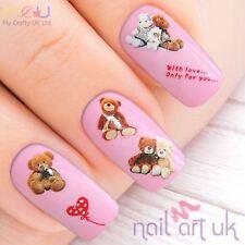 Cute Teddy Bear Soft Stuffed Toy  Nail Stickers, Decals, Art, Tattoos 01.03.094